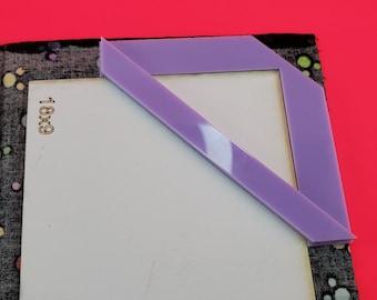 Bookbinding miter tool / Corner miter tool / Box Making / Mitering Jig / Cardboard cutting ruler, Cartonnage Tolls, craft tolls