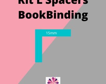 L Spacer Tool BookBinding Acrylic, Cartonnage Tools, Bookbinding Tools, L Ruler 3mm thickness, Square Spacer, Box Making, craft tools