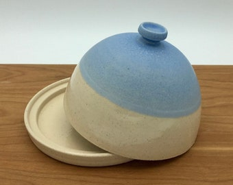 Butter dish with lid ceramic stoneware pottery hand made thrown