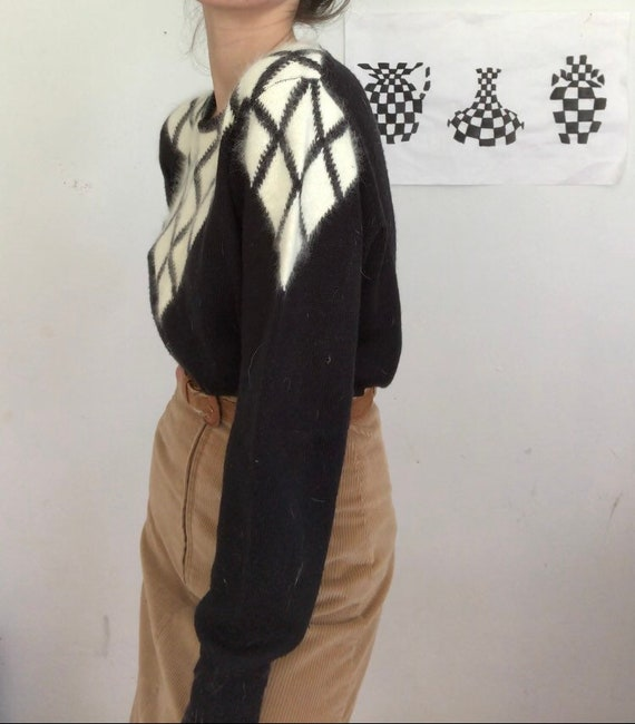 Vintage angora fur sweater