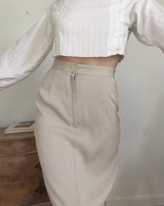 Vintage Vogue ribbed high waisted skirt