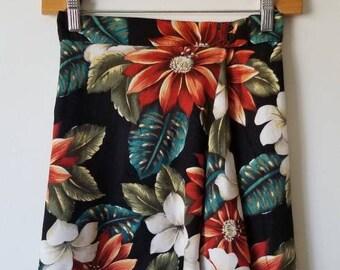 60c560c8d2 Vintage Sarong, Vintage Wallet skirt, 90s grunge skirt, floral mini  highwaisted skirt, Size 5