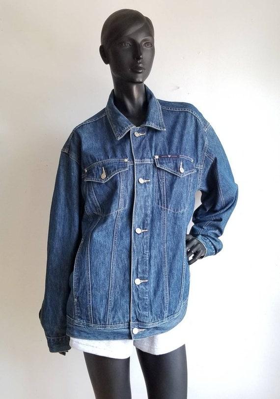 Y2k Oversize Jeans Jacket, Vintage Denim Jacket, B