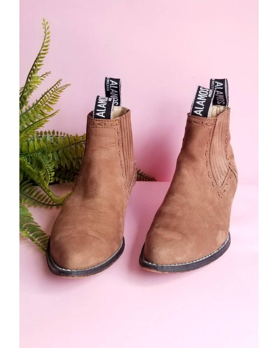 Vintage Ankle Cowboy Boots, Women Cowboy Boots, Ta