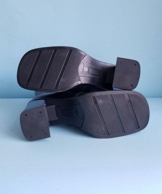 90s Boots, Minimalist Black Vegan Leather Boots, … - image 6