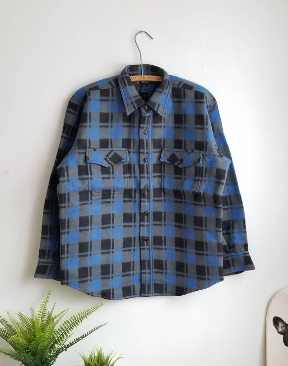 16, 90s Vintage Plaid Flannel, Lumberjack Flannel