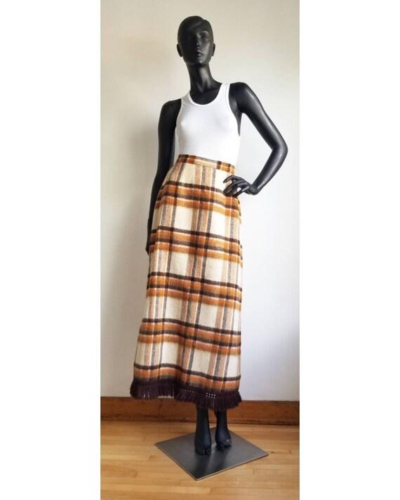 70s Wool Maxi Skirt, Hippie Skirt, Handmade Wool … - image 2