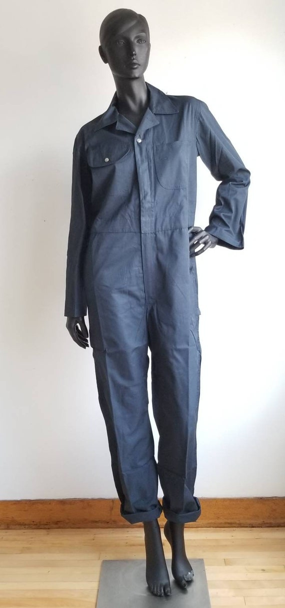 70s Coverall, Work Coverall, Indigo Coverall, 70s
