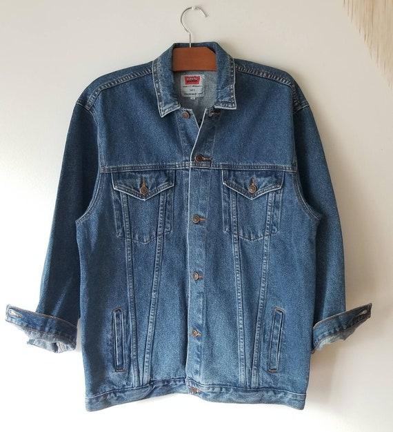 Oversize denim Jacket, Vintage deadStock blue Jean