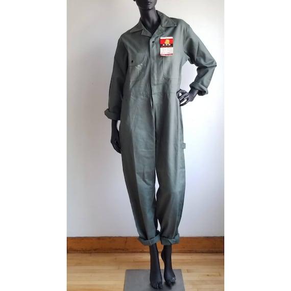70s Coverall, Workwear Deadstock, Mechanic Green U