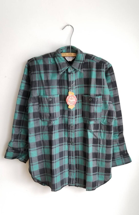15, Deadstock Champion Shirt, 80s Flannel shirt, L