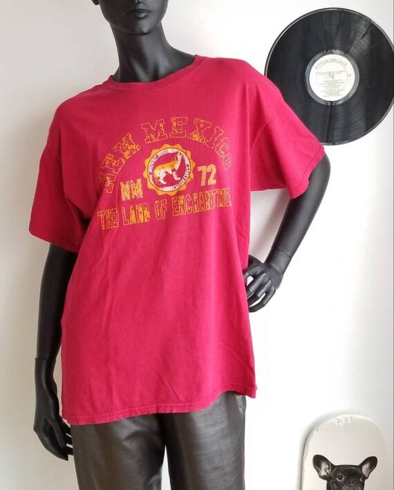 New Mexico Tshirt, Vintage tshirt, Wolf Tshirt, Wi