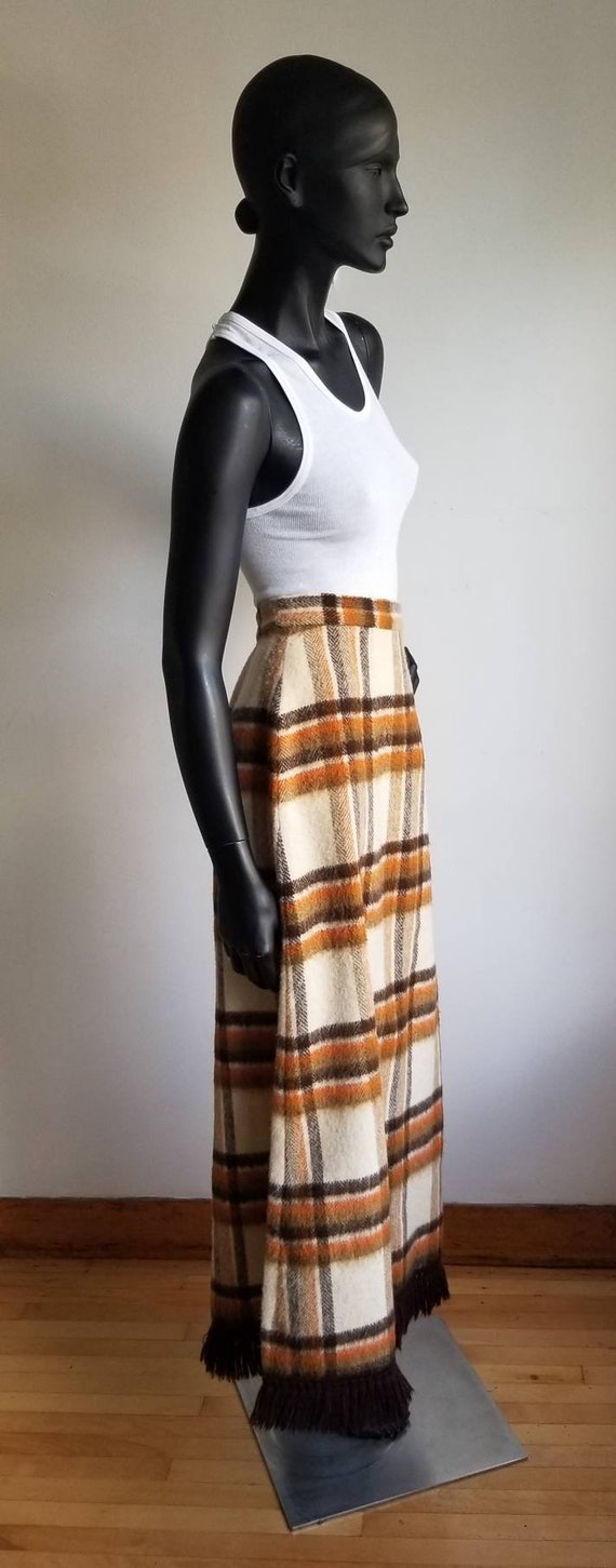 70s Wool Maxi Skirt, Hippie Skirt, Handmade Wool … - image 9