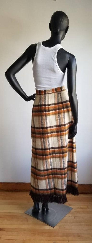 70s Wool Maxi Skirt, Hippie Skirt, Handmade Wool … - image 10
