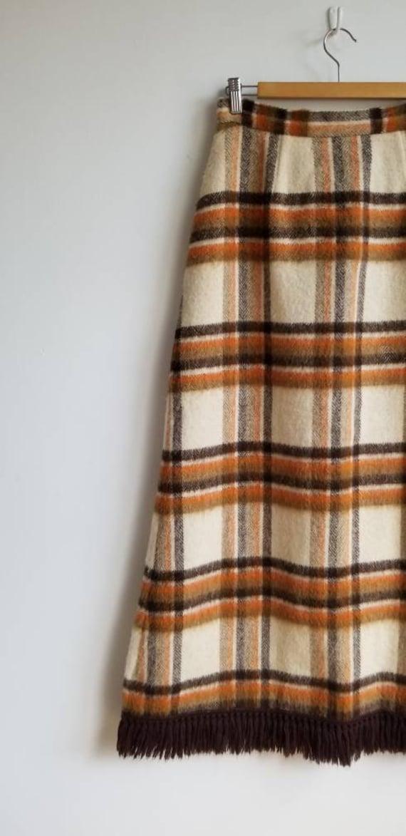 70s Wool Maxi Skirt, Hippie Skirt, Handmade Wool … - image 4