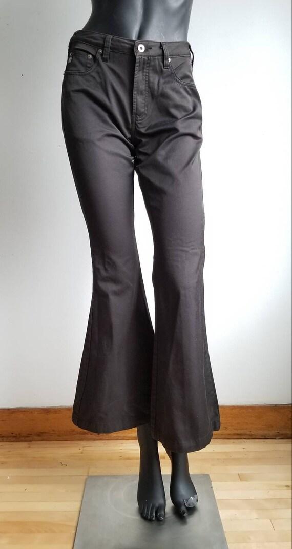 Y2k Flare Pants, Black Shimmery Pants, 2000s SILVE