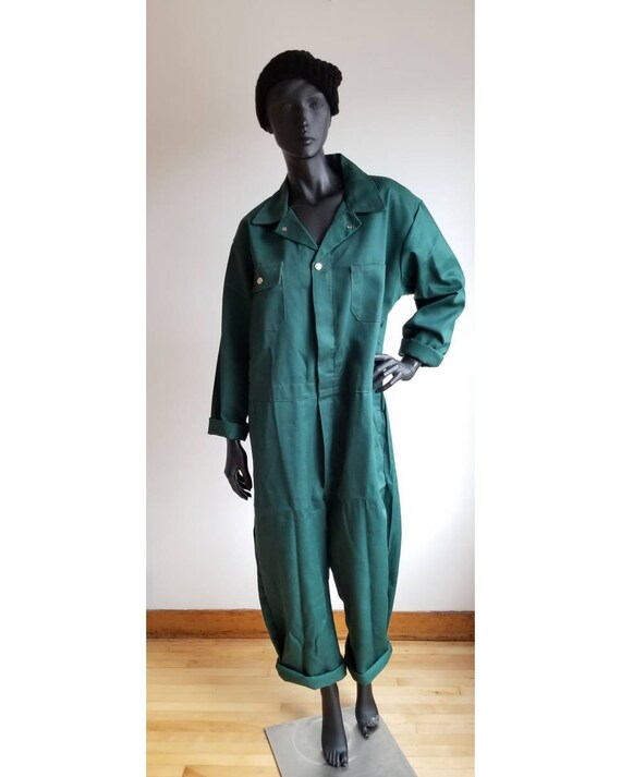 70s Utility Coverall, Emerald Green Coverall, Cott