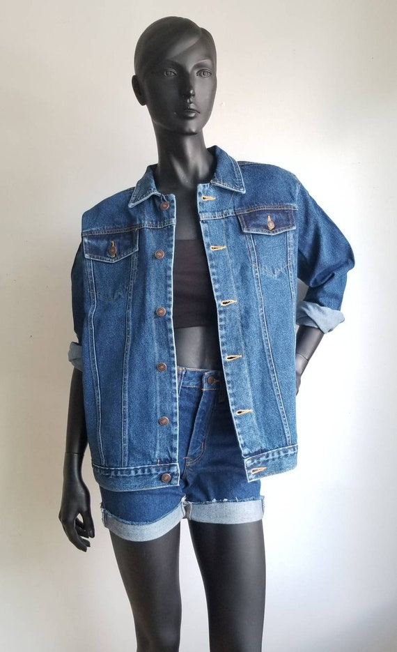 90s Jeans Jacket, Deadstock, Classic Denim Jacket,