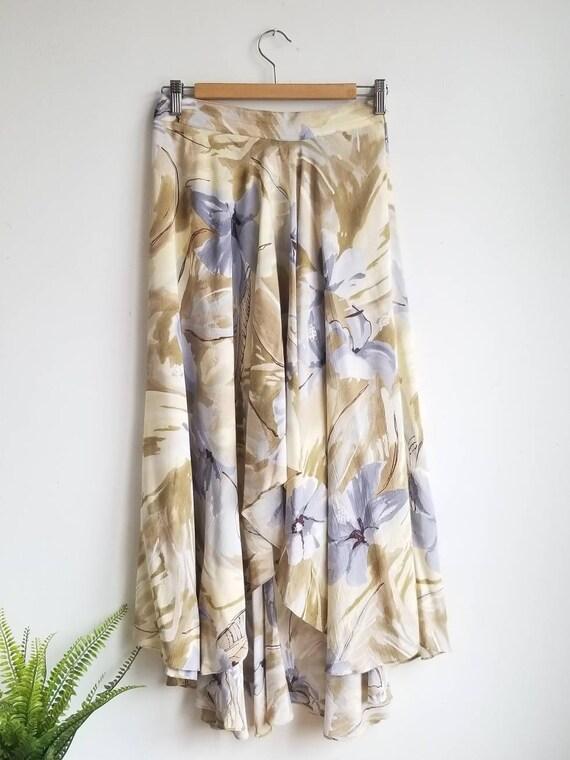 90s Grunge Skirt,Vintage Floral Skirt, 80s Floral