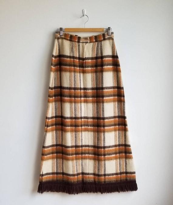 70s Wool Maxi Skirt, Hippie Skirt, Handmade Wool … - image 7