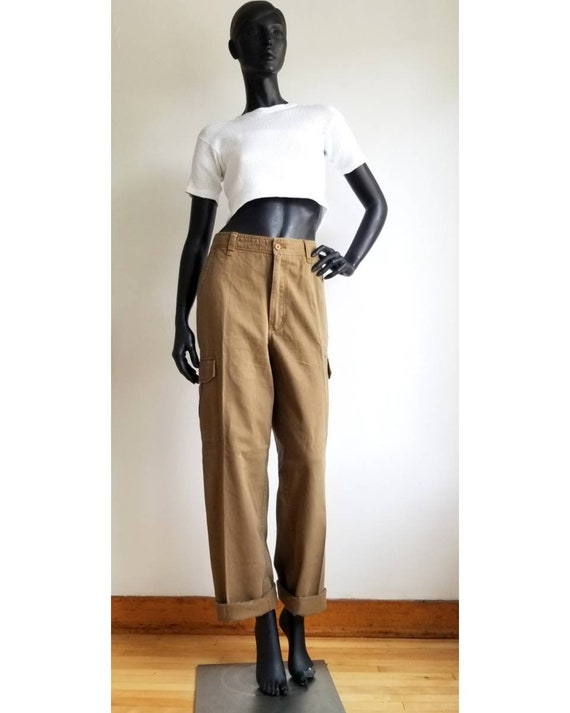 Y2k Cargo Pants Highwaisted Trek Pants Cotton Carg