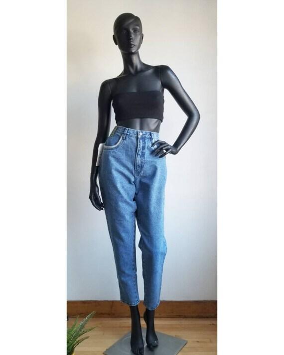 90s Mom Jeans Highwaisted Blue Jeans Tapered Leg J