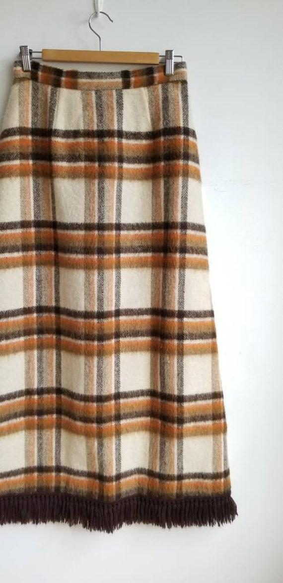 70s Wool Maxi Skirt, Hippie Skirt, Handmade Wool … - image 5