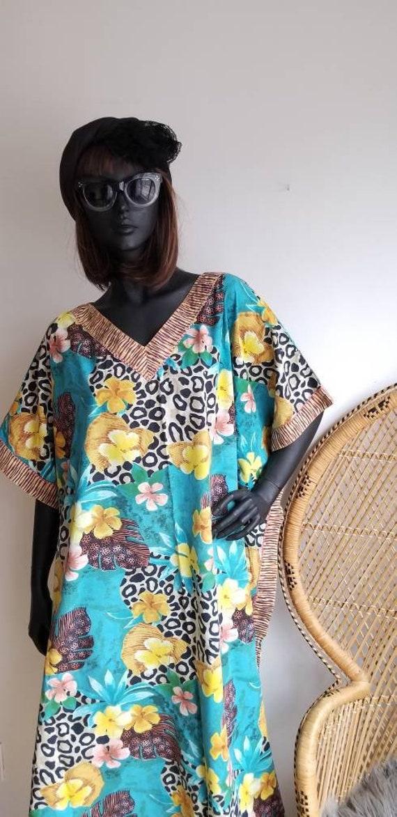 Vintage Dress, Lounge dress,Tunic, Aloha dress, Af