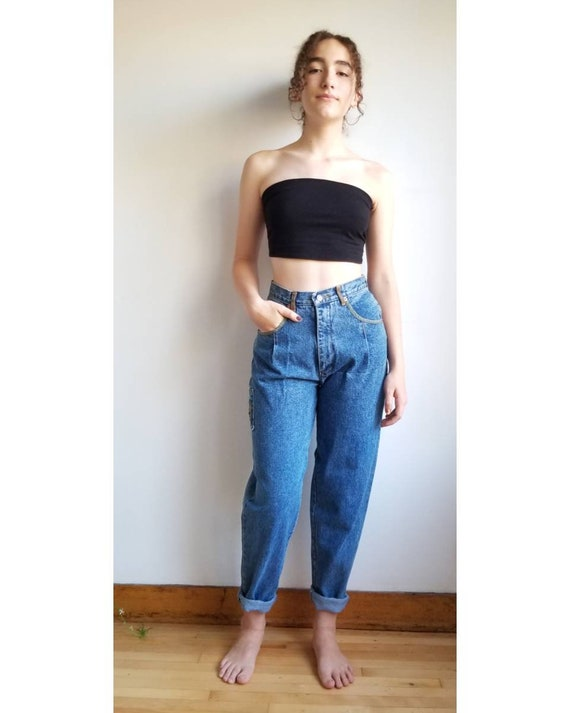 90s Jeans, Mom Jeans, Highwaisted Pleated Jeans, D
