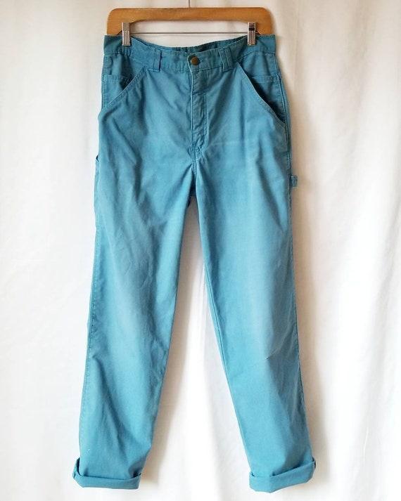 Blue carpenter's pants, Vintage Workwear pants, Hi