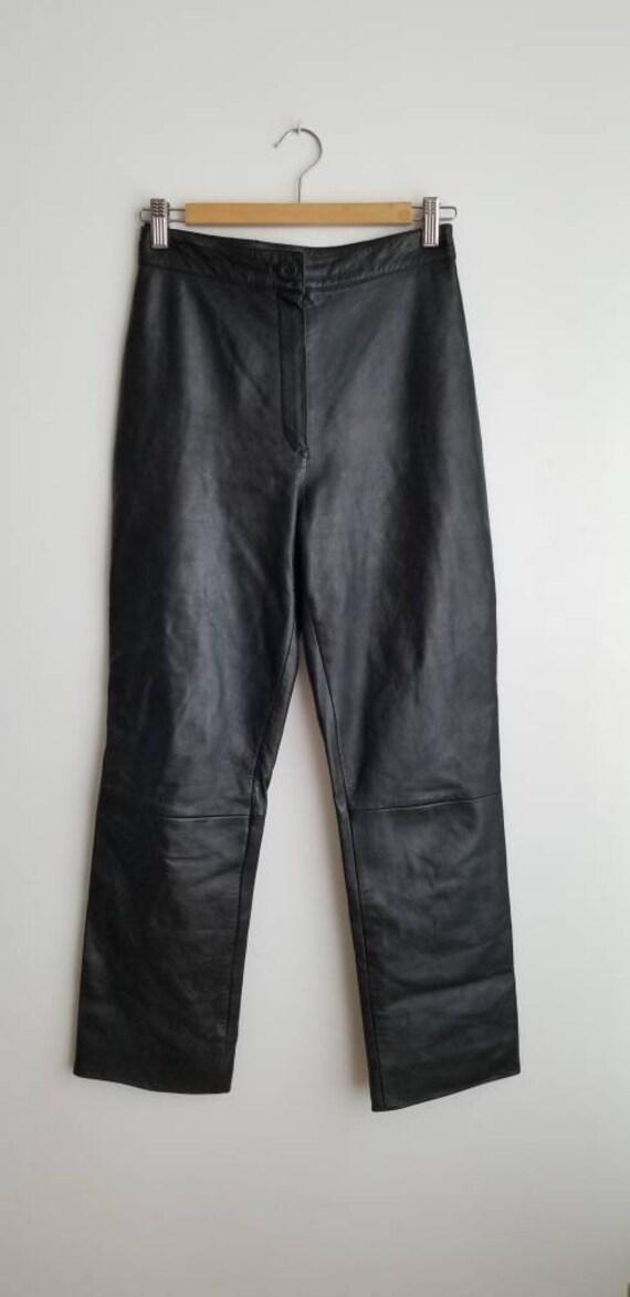 Minimalist Leather pants, highwaisted leather trou