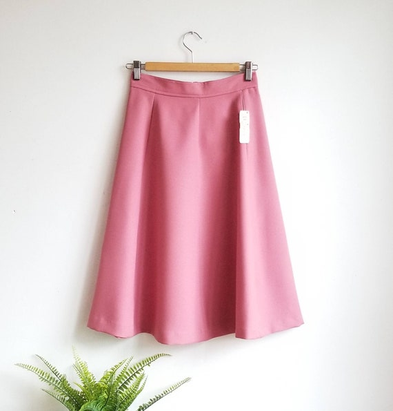 70s Highwaisted Skirt, Vintage Pink Skirt, Highwai