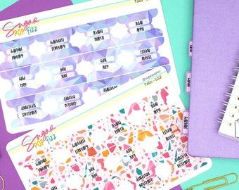 Hello Spring Standard Vertical Monthly Sticker Kit Sugar Pop Fizz