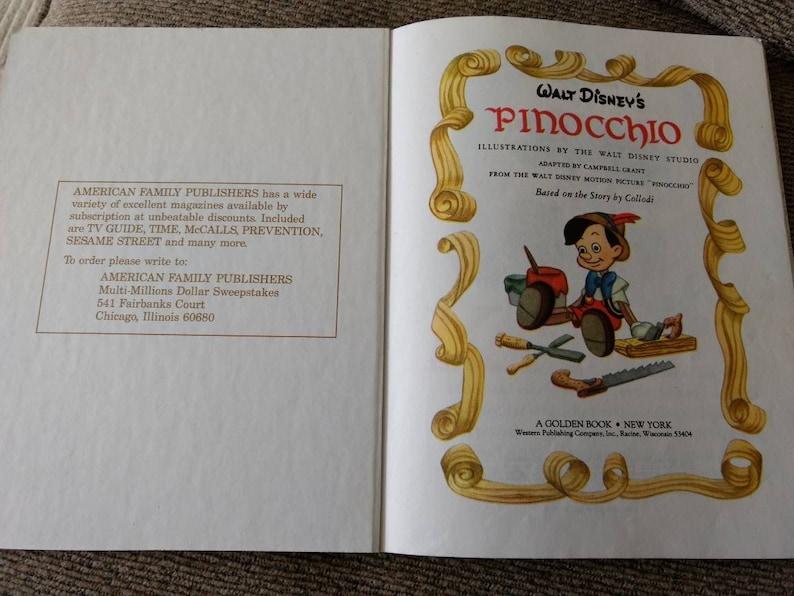 A Little Golden Book: Walt Disney's Pinocchio