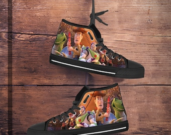 quality design d1a73 d27b4 Toy Story shoes, Toy Story converse look alikes, high tops, women s, men s  kid s sneakers, hi tops father s day