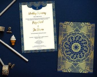 Wedding Invitation, Punjabi Wedding Invitation, Hindu Wedding Invitation, Sikh Wedding Invitation, PRINTABLE Indian Wedding Invitation
