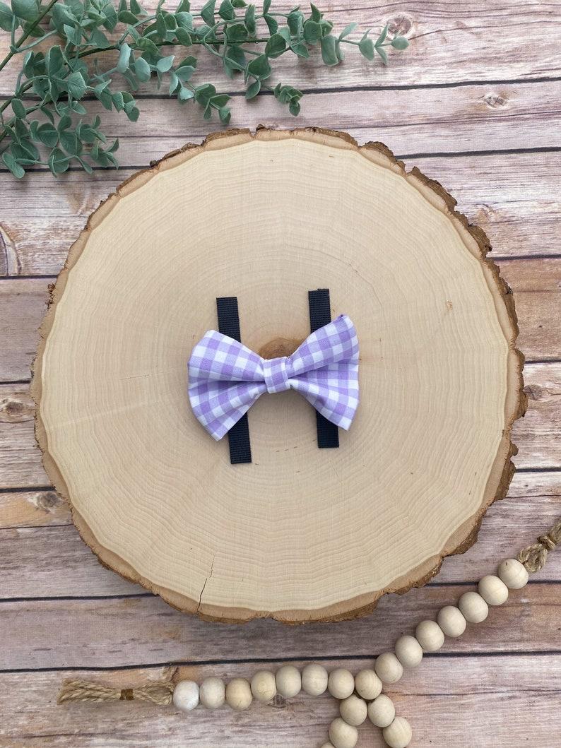 Purple Gingham Dog Bow Tie Spring Dog Bow TieCollar Bow TieDog Bow Tie