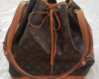 a607849f3019 Vintage Louis Vuitton Drawstring Noe Bucket Shoulder Bag