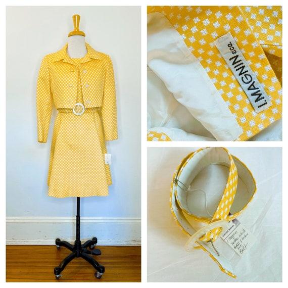 1950s I Magnin yellow set - image 1