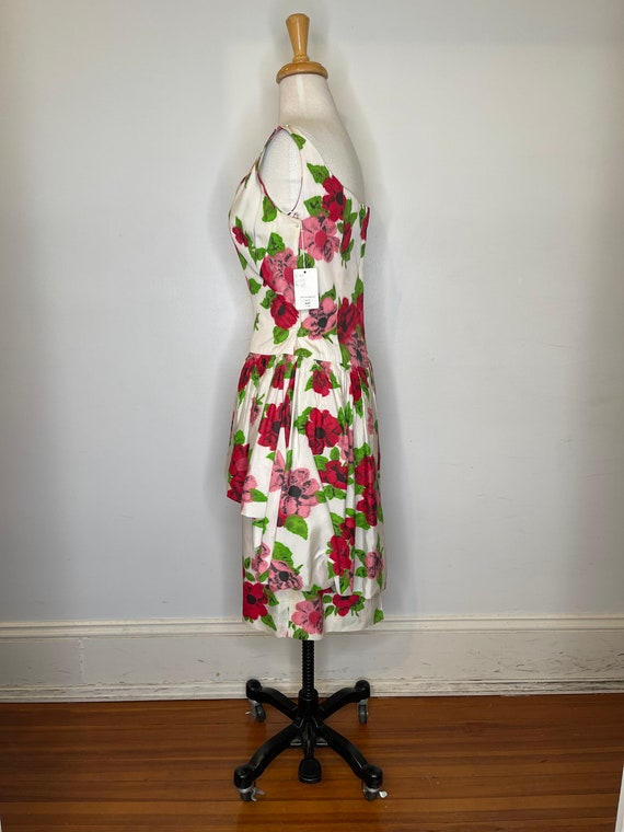 1980s Scaasi floral dress - image 3