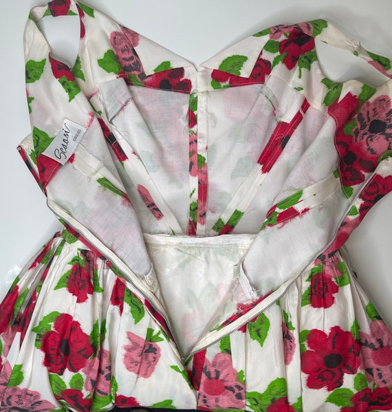 1980s Scaasi floral dress - image 6