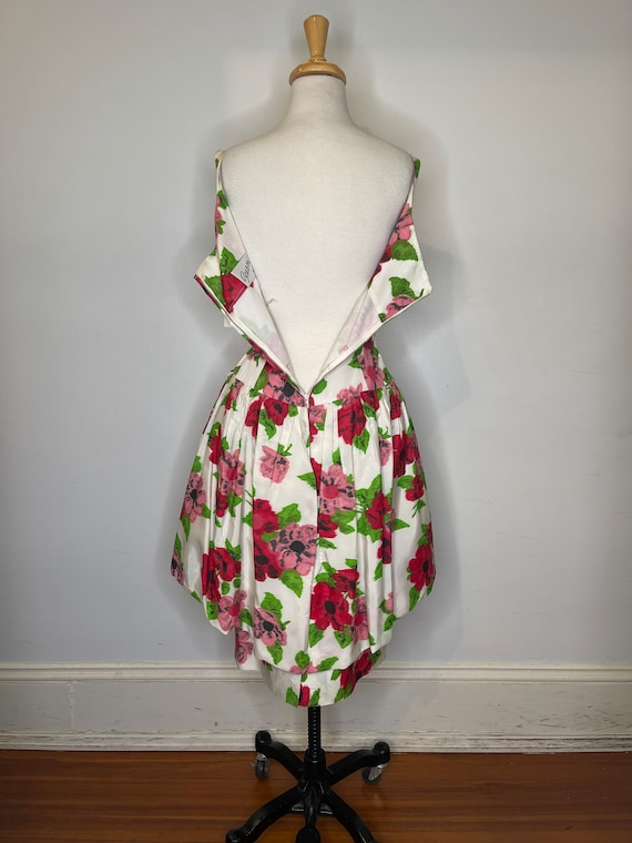 1980s Scaasi floral dress - image 9