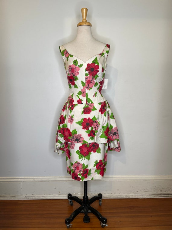 1980s Scaasi floral dress - image 2