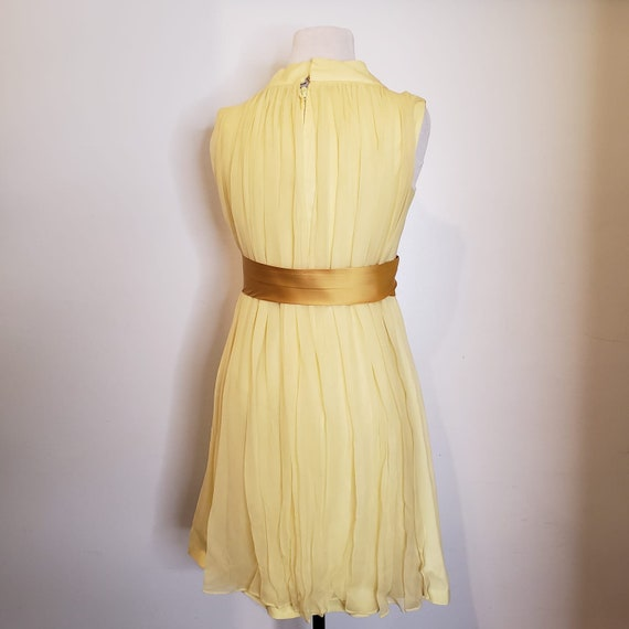 1950s Yellow Chiffon Dress - image 2