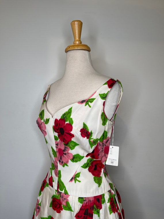 1980s Scaasi floral dress - image 5