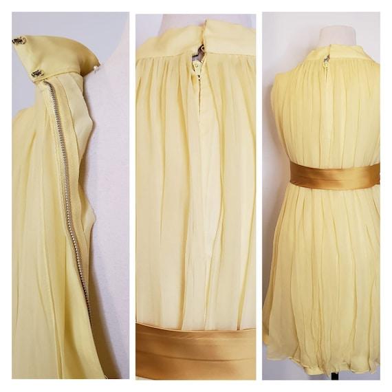 1950s Yellow Chiffon Dress - image 6