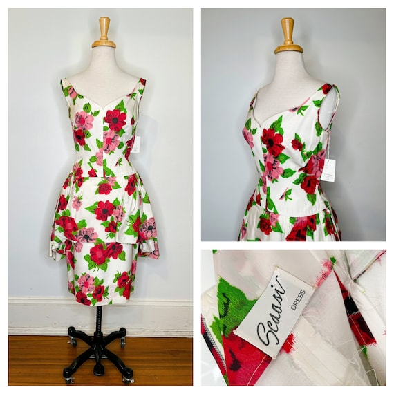 1980s Scaasi floral dress - image 1