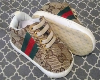 6cd485e2822 Beige Gucci Inspired Baby Shoes Size 1