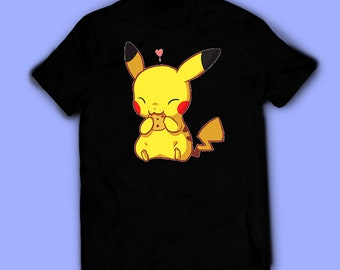 ca98200a Pikachu shirt, Pokemon t-shirt, tee. Shirt for men, women, and kids /  unisex. Birthday gift high quality. Father's gift, mother's gift