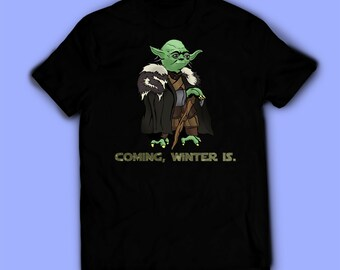 d39f5fe03d Star Wars shirt, Yoda Game of thrones t-shirt, tee. Shirt for men, women,  and kids / unisex. Birthday gift high quality. Father's gift